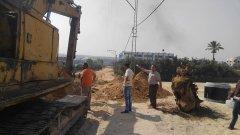 تمديد شبكات صرف صحي في منطقة قليبو